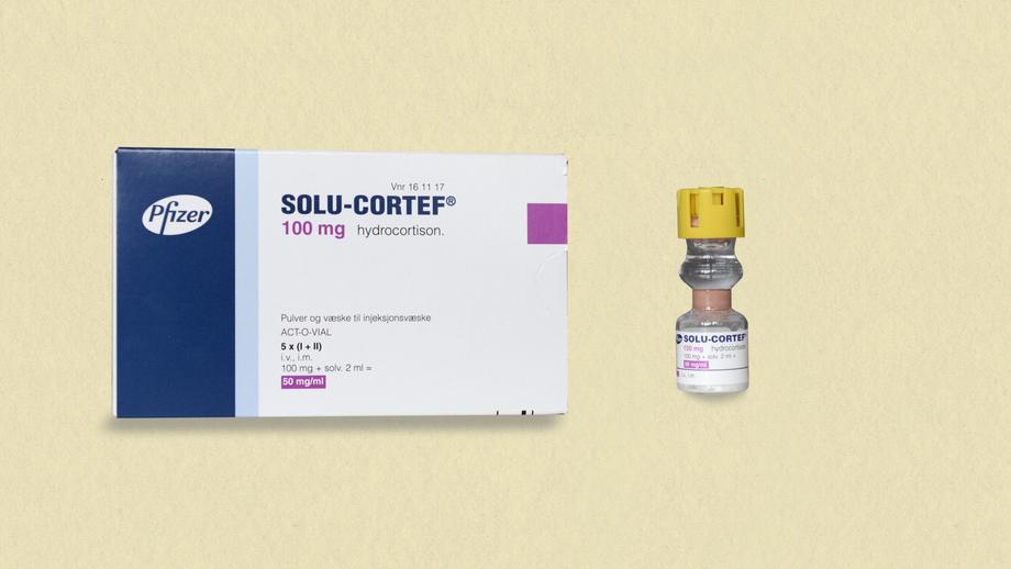 Pakning og hetteglass Solu-Cortef